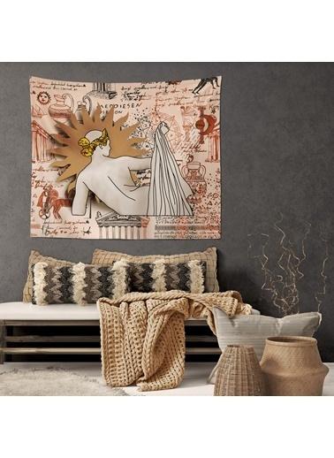 Eponj Home Tapestry Duvar Örtüsü 120x145 cm Sun Bej Bej